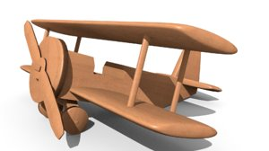 wood airplane 3d model
