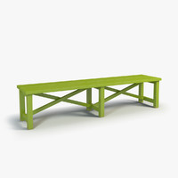 painted bench 3d model