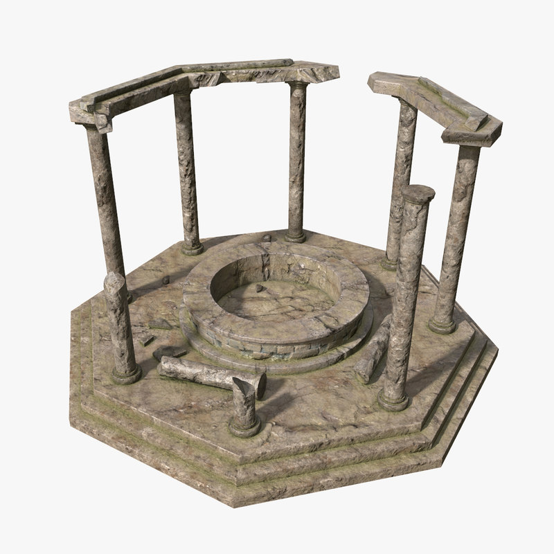 ancient ruin 3d obj