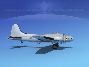 b-17 boeing bomber b-17f 3d model