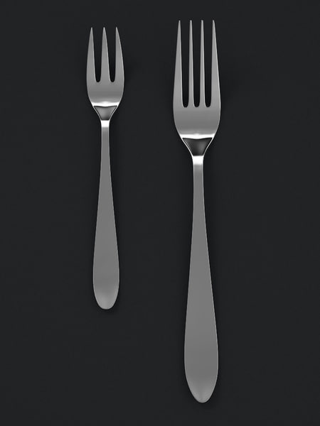 forks pastry 3d max