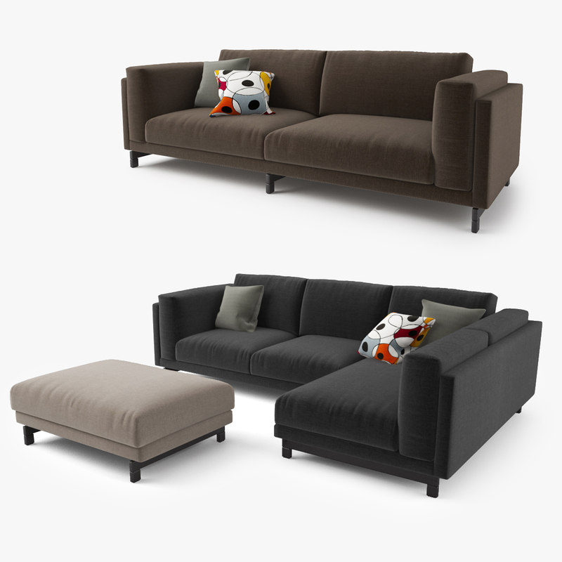 3d model ikea nockeby series sofa. Black Bedroom Furniture Sets. Home Design Ideas