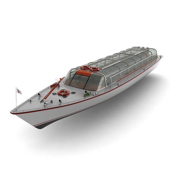 amsterdam cruise boat 3d 3ds