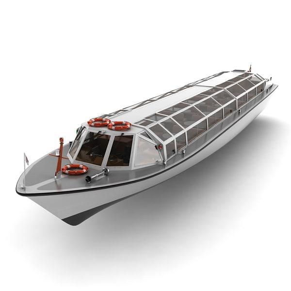 amsterdam cruise boat 3d max
