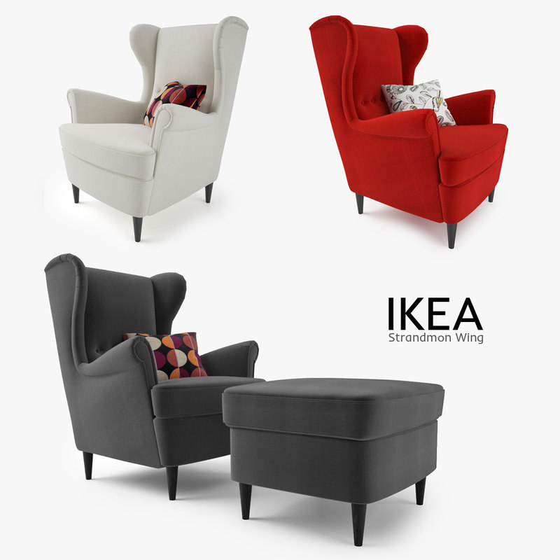 3d model ikea strandmon wing chair. Black Bedroom Furniture Sets. Home Design Ideas