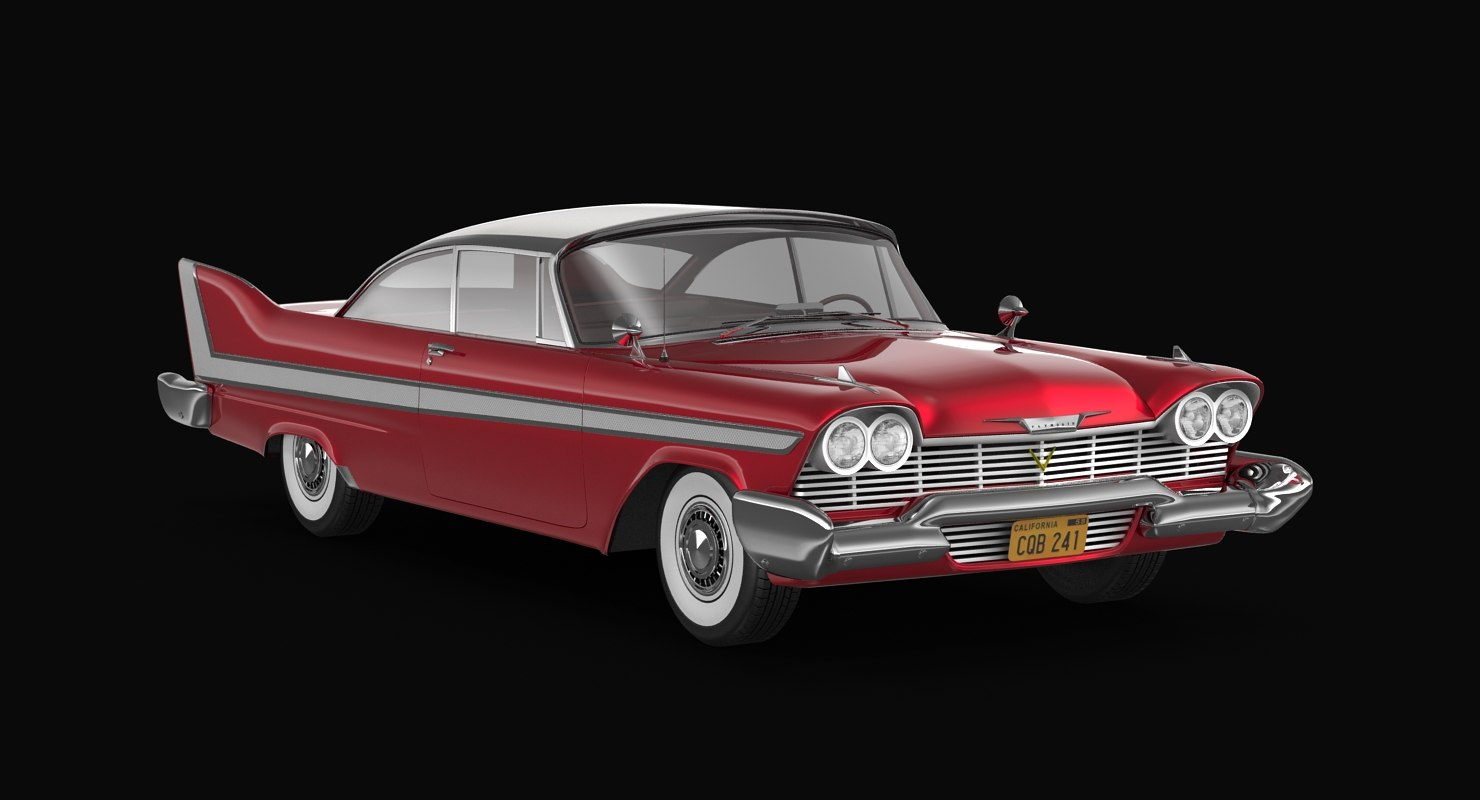 3d model plymouth fury 1958