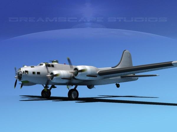 3d model boeing b-17 b-17g