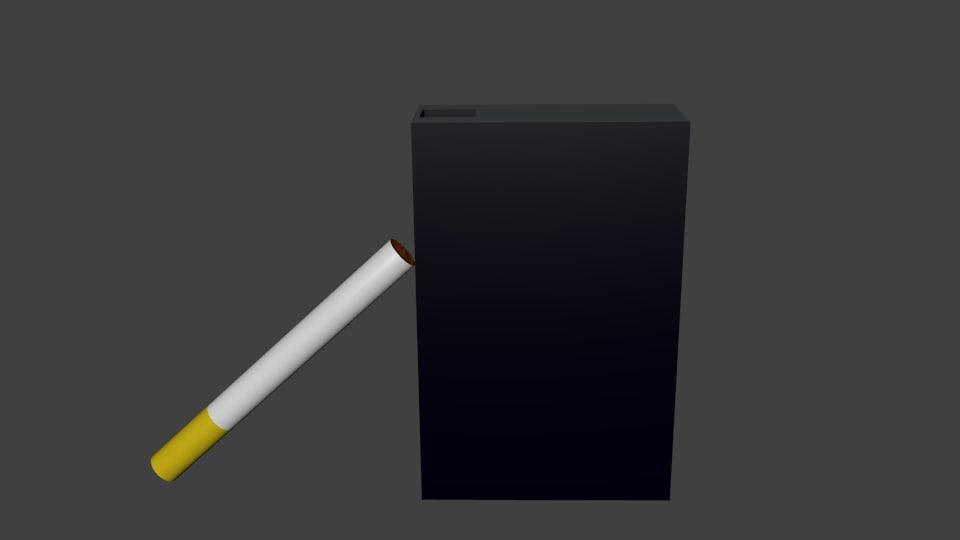 cigarette pack 3d obj