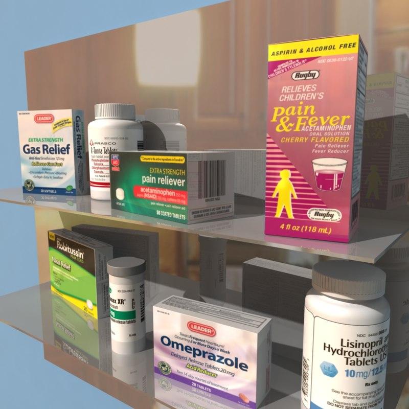 3d drugs medicine cabinet