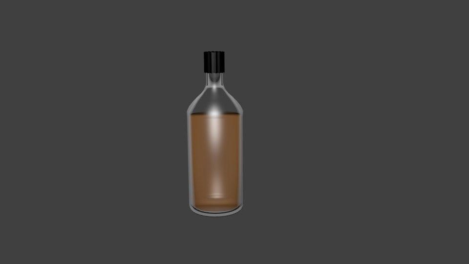 3d model of whiskey bottle