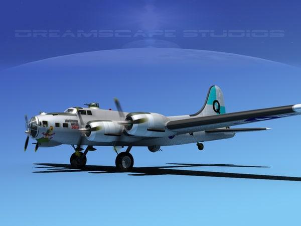 3dsmax b-17 boeing flying fortress