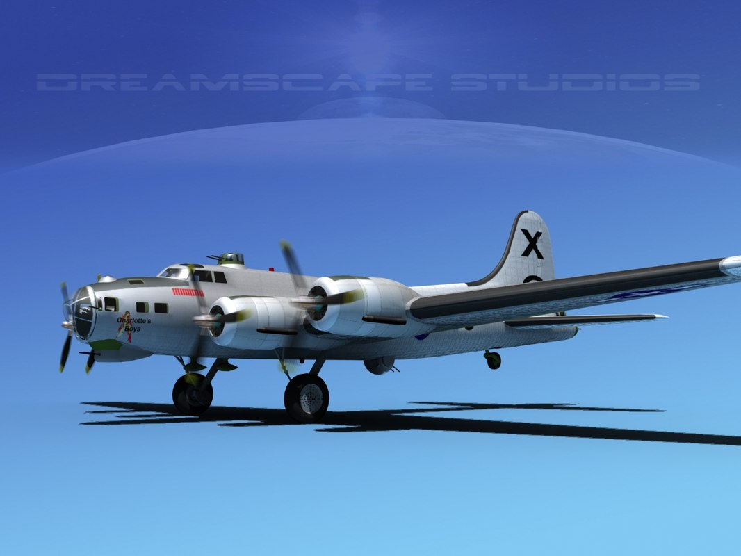 b-17 boeing flying fortress 3d dwg