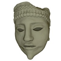 mayan face sculpture 3d 3ds
