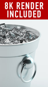ice bucket hq 3d model