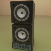 blender speaker simple 3d blend