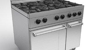gas range cooker 3D