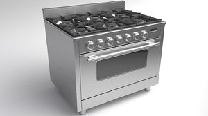3D gas range cooker model