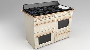 gas range cooker retro 3D model
