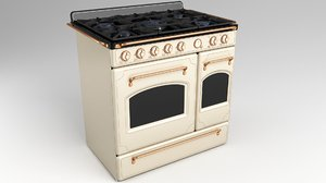 3D gas range cooker