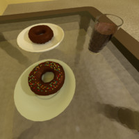 donut shake 3d blend