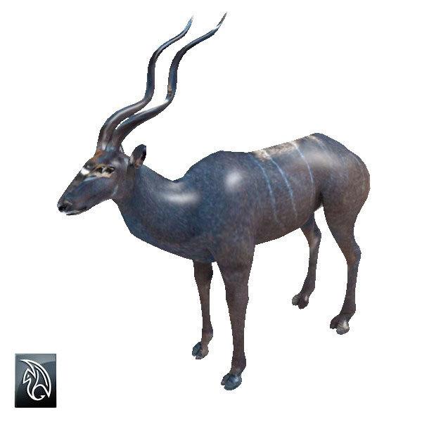 3d model kudu antelope
