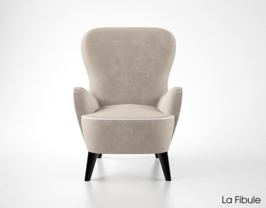 la fibule hepburn armchair 3d model