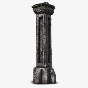 3d 3ds stone column