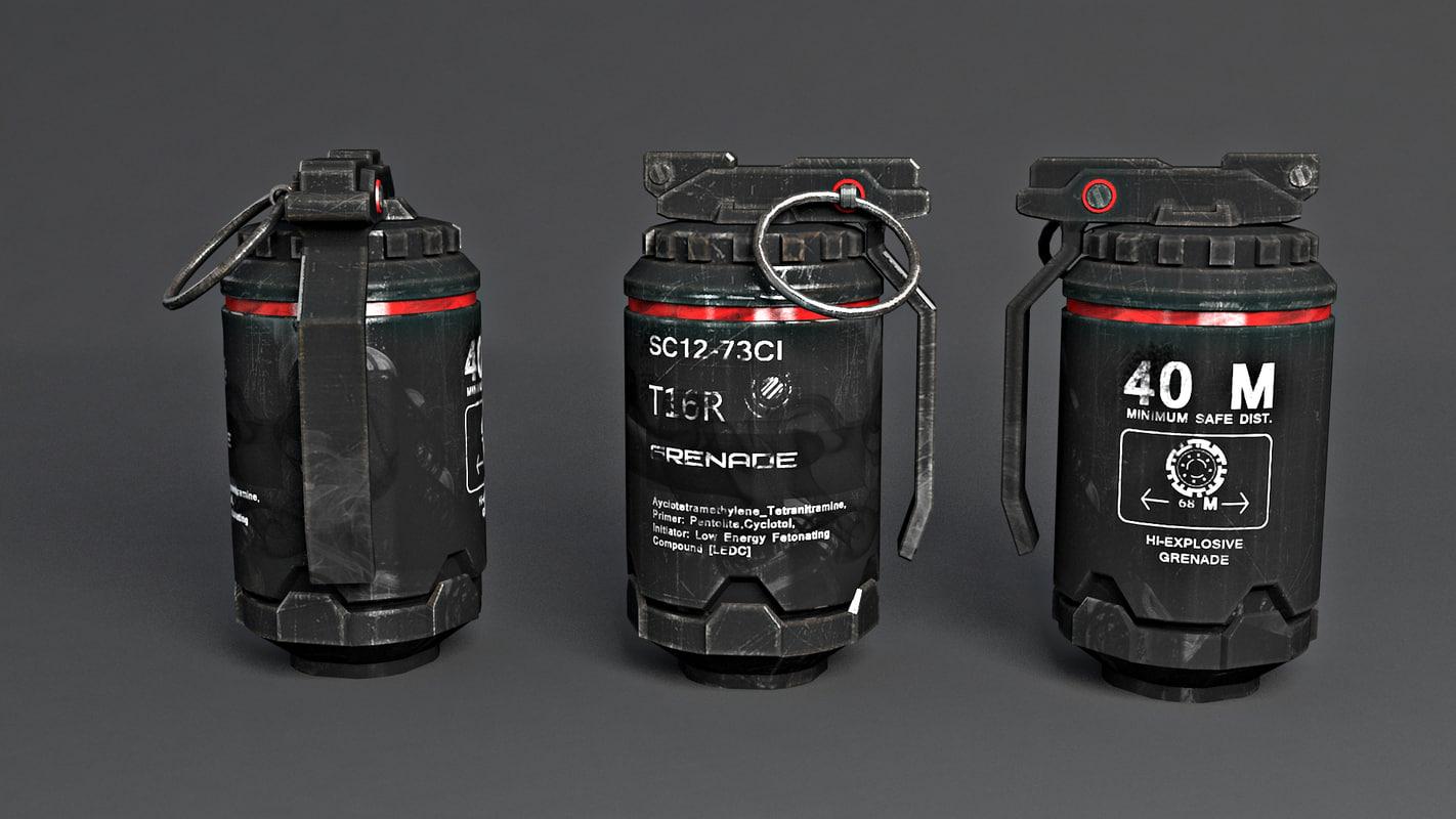 free grenad 3d model