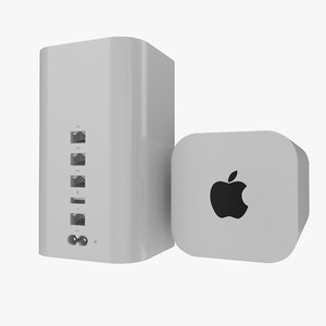 apple airport extreme modeled obj