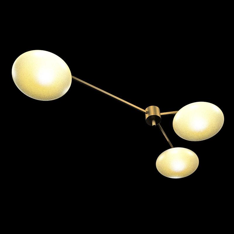 3d model of chandelier angelo lelli arredoluce