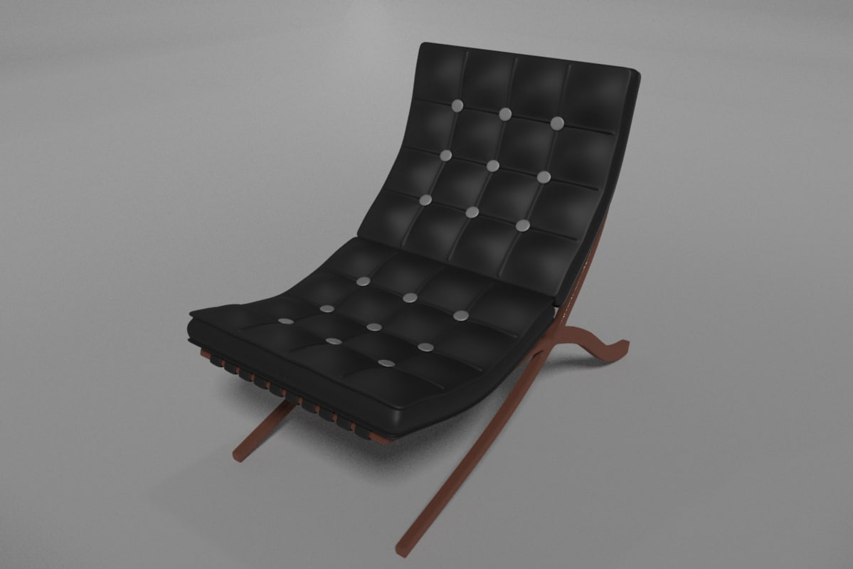 luxury leather couch 3d blend