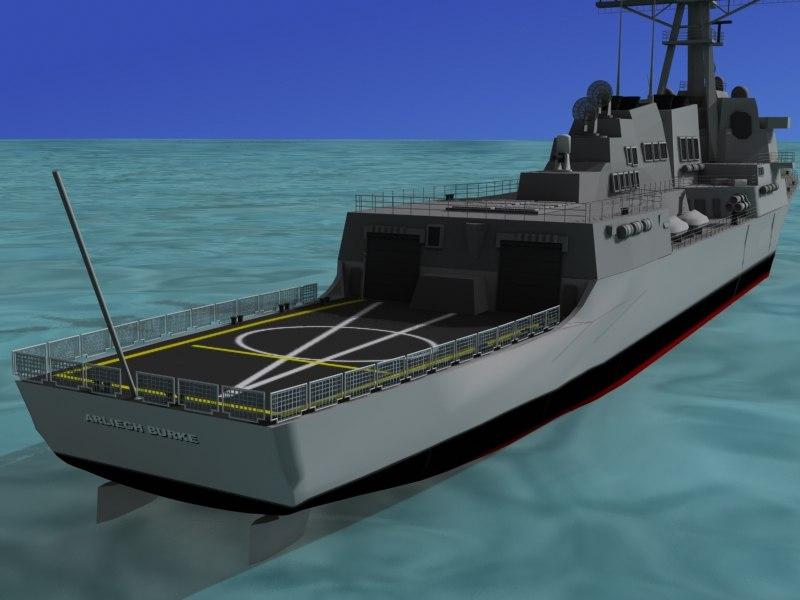 3d model ship burke class destroyers