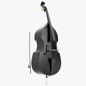 3d double bass black