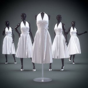 3d showroom mannequin 07 model