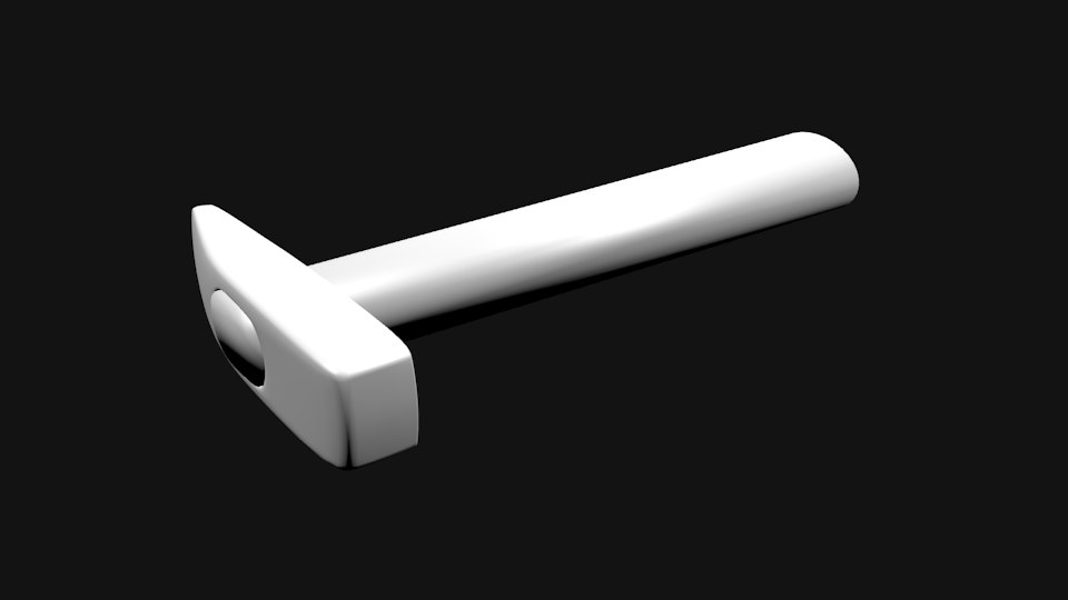 3d model of simple hammer