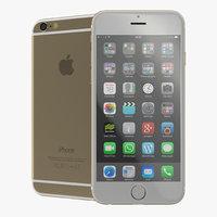 iphone 6 gold 2 c4d