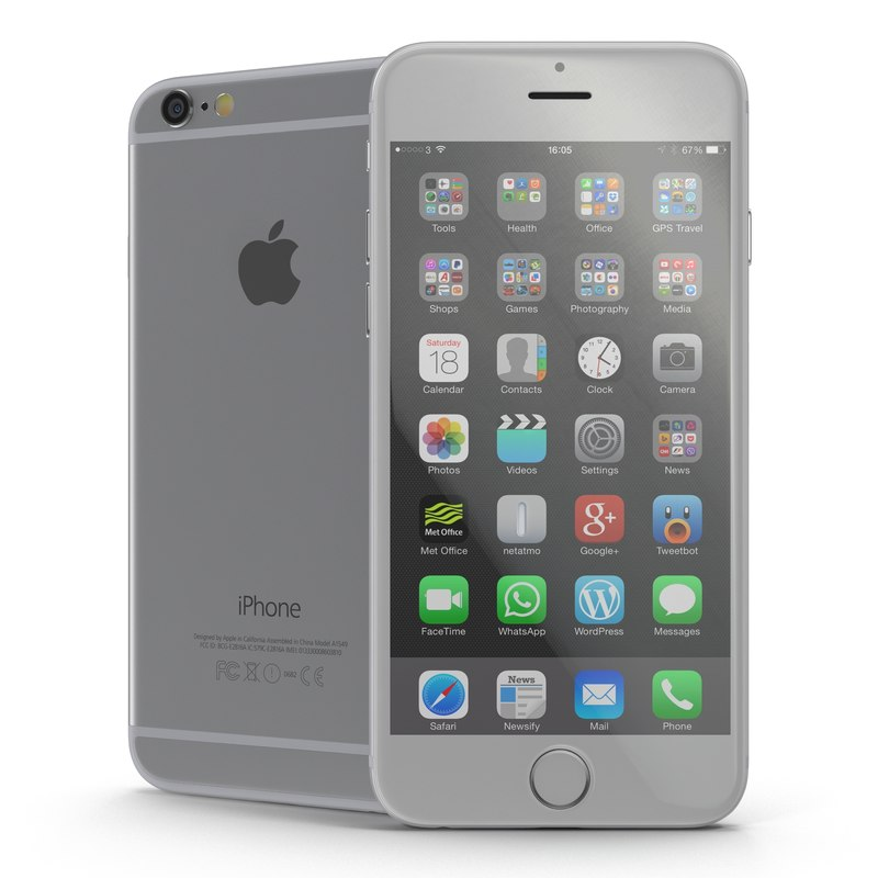 iphone 6 silver 2 3d model