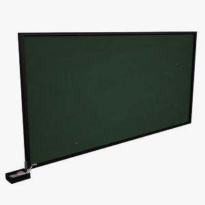 3d chalkboard board chalk