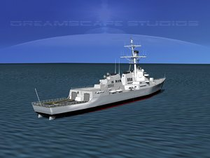 3d model ship arleigh burke class