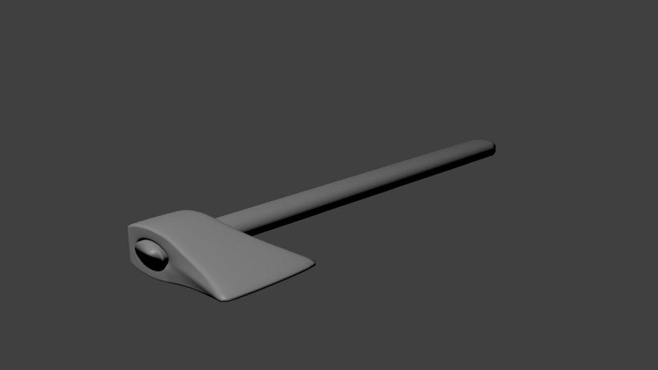simple axe 3d obj