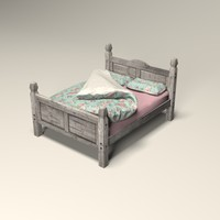 3d king size bed model