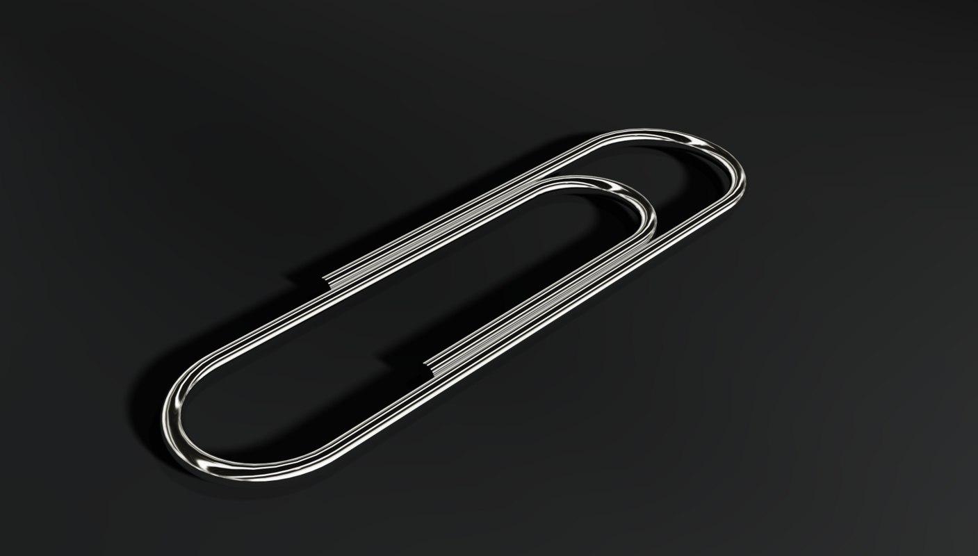 paperclip paper 3d model