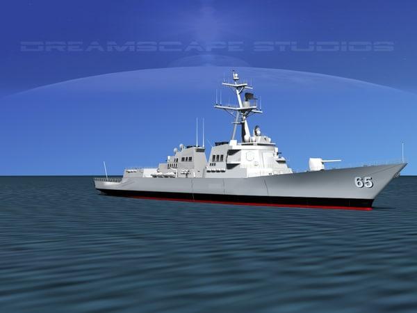 3d 3ds ship arleigh burke class