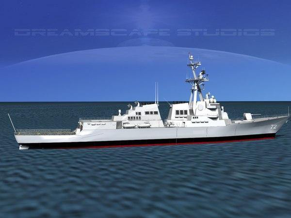 ship arleigh burke class 3d 3ds