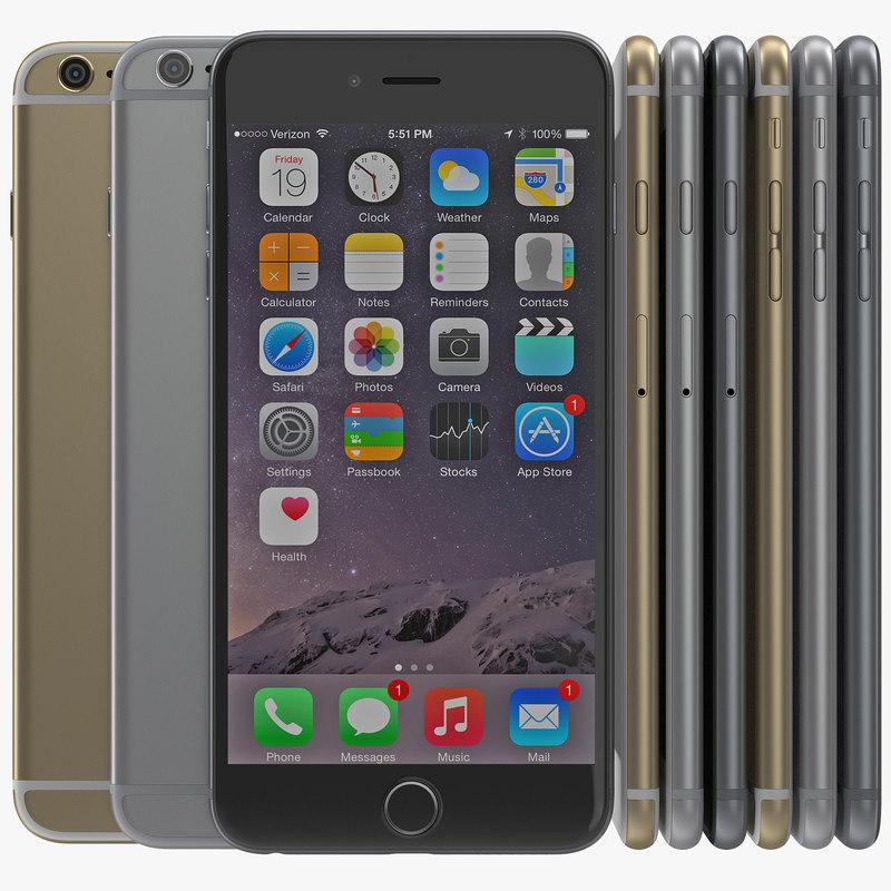 iphone 6 set 2 3d model