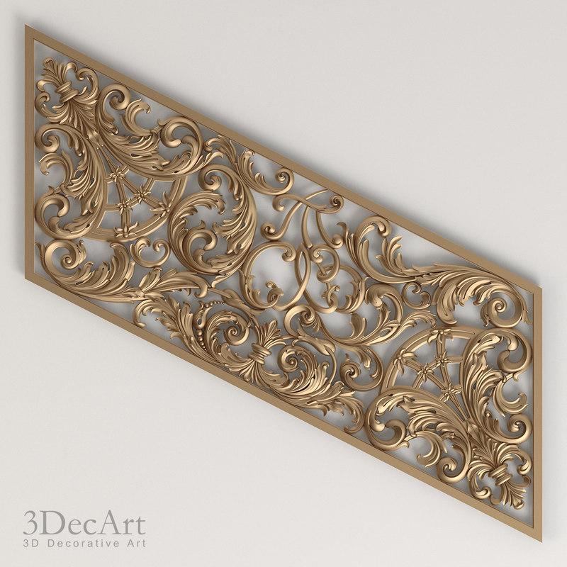 3d decorative panel model