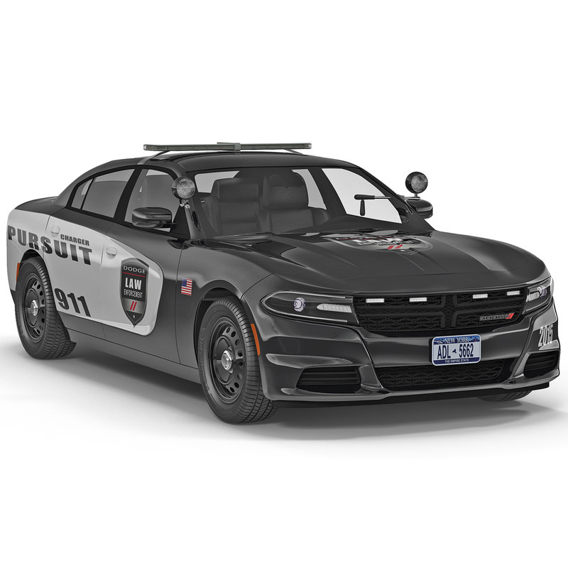 3d dodge charger 2015 police car model
