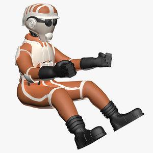 sci-fi pilot fbx