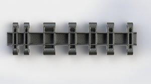 free track panzerkampfwagen vi ausf 3d model