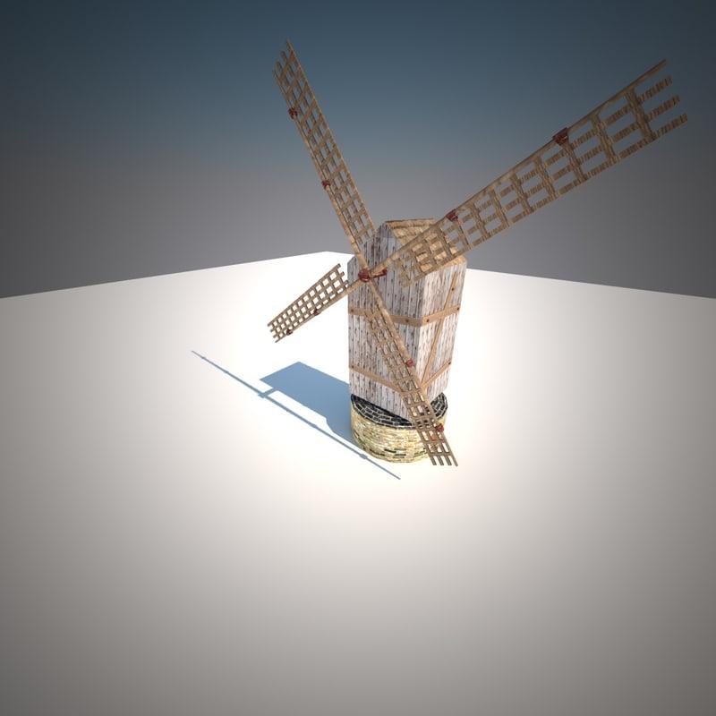 windmill wind 3d model